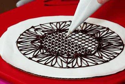 Мастер-класс по рисованию шоколадом